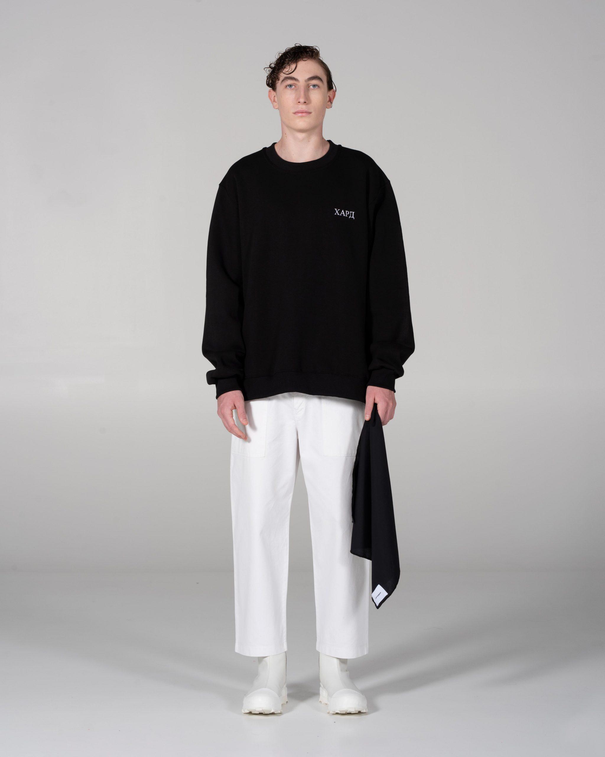 Black Sweatshirt With Mini Logo