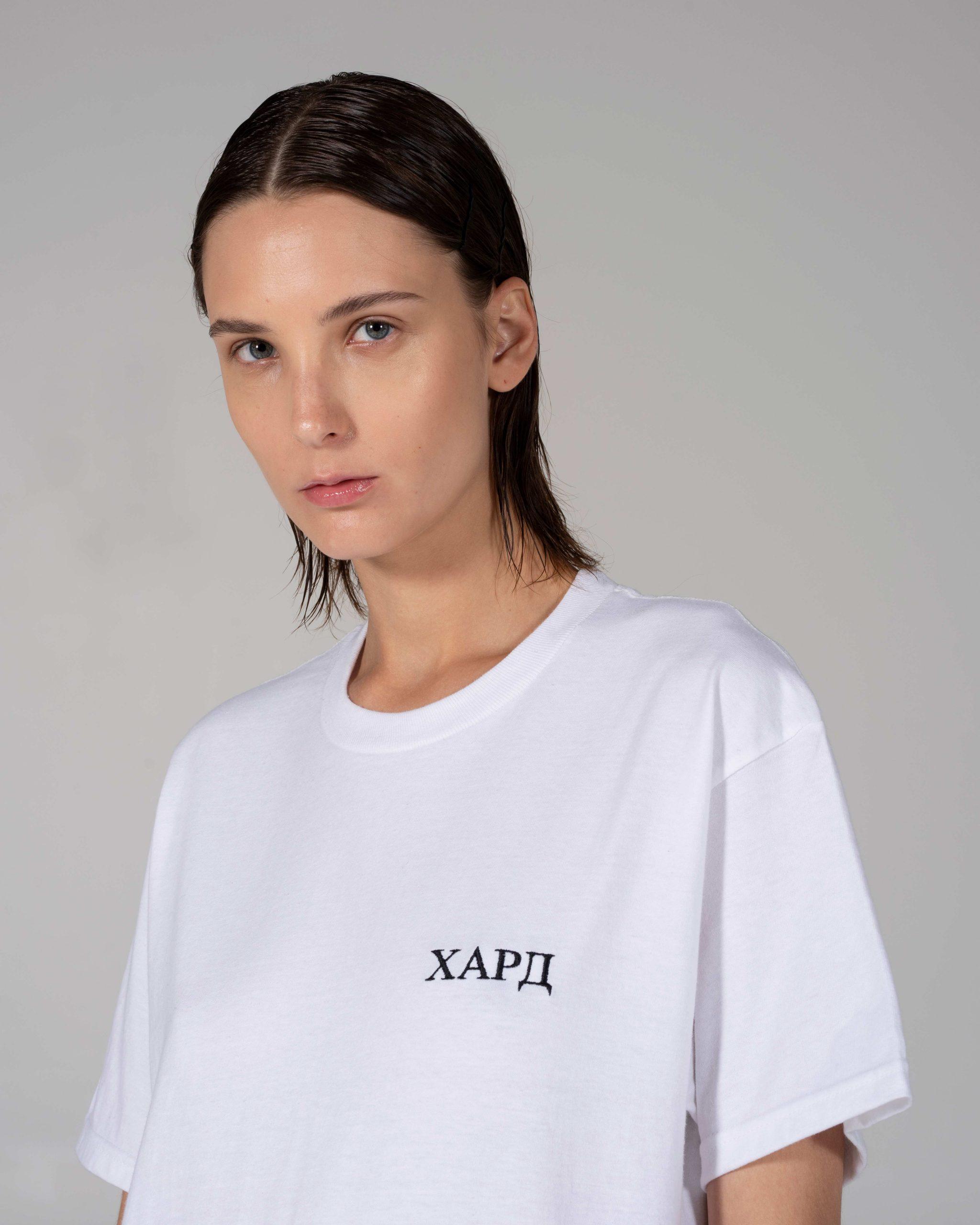 HardClo Classic T-Shirt , White Mini Logo